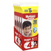 Huggies Size 4 Snug and Dry Diapers, 3 count per pack -- 10 per case.