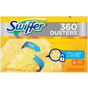 Swiffer Unscented 360 Degree Disposable Dusters Refill, 6 count per pack -- 4 per case.