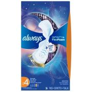 Always Overnight Infinity Pad with Wings, 26 count per pack -- 6 per case