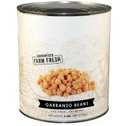 Commodity Canned Fruit and Vegetables Fancy Garbanzo Chickpeas, 110 Ounce -- 6 per case