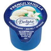 International Delight Classic French Vanilla Flavored Gourmet Coffee Creamer -- 288 per case.