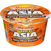 Maruchan Taste of Asia Miso Chicken Flavor Spicy Miso Ramen Bowl, 3.38 Ounce -- 6 per case.