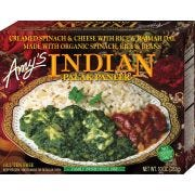 Amys Organic Indian Palak Paneer Whole Meal, 10 Ounce -- 12 per case