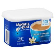 Maxwell House French Vanilla Cafe Style Instant Beverage Mix, 4 Ounce -- 8 per case.