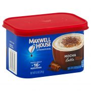 Maxwell House Mocha Latte Cafe Style Instant Beverage Mix, 8.5 Ounce -- 8 per case.
