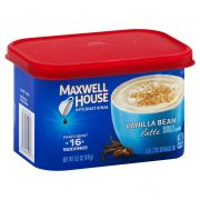 Maxwell House Vanilla Bean Latte Instant Coffee, 8.5 Ounce -- 8 per case.
