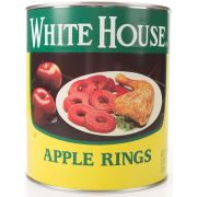 Commodity Canned Fruit and Vegetables White House Spiced Apple Rings, Number 10 Can -- 6 per case