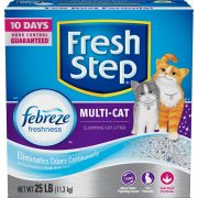 Fresh Step Multi Cat Scented Scoopable Cat Litter, 25 Pound -- 1 each.