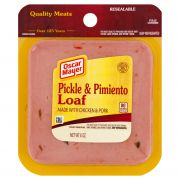 Oscar Mayer Sliced Square Pickle and Pimiento Meat Loaf, 8 Ounce -- 9 per case.