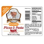 Chef Paul Prudhommes Hot and Sweet Pizza & Pasta Magic - 3 lb. package, 1 per case