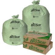Biostar Green Perforated Compostable Can Liner Roll, 23 Gallon -- 150 per case.