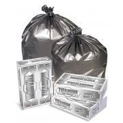 56 Gallon Glutton Silver Can Liner -- 50 Count