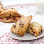 Davids Cookies Cranberry Scone, 4 Ounce -- 20 per case.