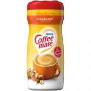 Coffee-Mate Hazelunt Powder Creamer - 15 oz. canister, 6 canisters per case