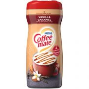 Coffee-Mate Vanilla Caramel Powder Creamer - 15 oz. canister, 6 canisters per case