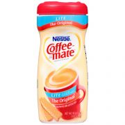 Coffee-Mate Lite Powder Creamer - 11 oz. canister, 12 cansiters per case