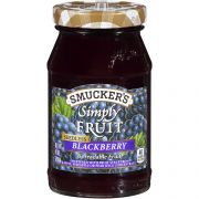Smuckers Simply Fruit Seedless Blackberry Fruit Spread, 10 Ounce -- 8 per case.