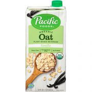 Pacific Foods Organic Naturally Vanilla Oat Beverage, 32 Fluid Ounce -- 12 per case