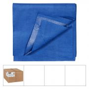Lapaco 3 Ply Navy Blue Folded Paper Table Cover, 54 x 108 inch -- 25 per case.
