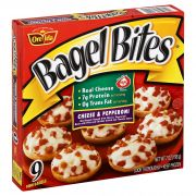 Heinz Pepperoni and Cheese Mini Bagel Bite - Appetizer, 7 Ounce -- 8 per case.