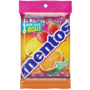 Mentos 1.32 Ounce Chewy Mint Fruit Rolls, 6 count per pack -- 12 per case.