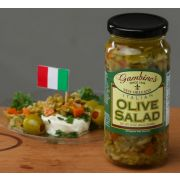 Gambinos Olive Salad with Pepperoncini, 16 Fluid Ounce -- 6 per case.
