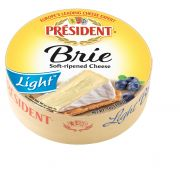 President Soft Ripened Brie Light Cheese Wheel, 7 Ounce -- 6 per case