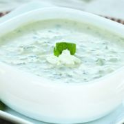 Blount Fine Foods Spinach and Feta Cheese Soup - 4 lb. package, 4 per case