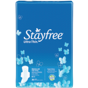 Stayfree Ultra Thin Regular Pad with Wings, 36 count per pack -- 4 per case.