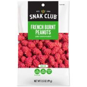 Century Snacks Snak Club French Burnt Peanuts, 3.5 Ounce -- 12 per case