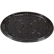 PartiPak PETE Black Round Everyday Tray, 16 inch -- 50 per case.