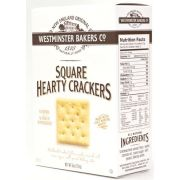 Westminster Cracker Co WBC Square Hearty Crackers, 6 Ounce -- 12 per case