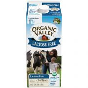 Organic Valley Ultra Pasteurized 1 Percent Low Fat Milk - Lactose Free, 64 Fluid Ounce -- 6 per case
