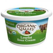 Organic Valley Organic Lowfat Sour Cream, 16 Ounce -- 6 per case