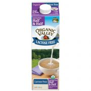 Organic Valley Lactose Free Ultra Pasteurized Half and Half, 32 Fluid Ounce -- 12 per case