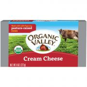 Organic Valley Organic Pasteurized Cream Cheese Bar, 8 Ounce -- 12 per case