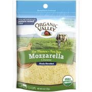 Organic Valley Low Moisture Part Skim Shredded Mozzarella Cheese, 6 Ounce -- 12 per case