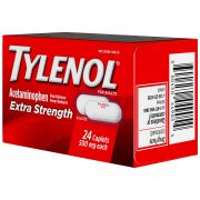 Tylenol Extra Strength Pain Relief Caplets -- 24 per case