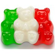 TR Toppers Red White and Green Christmas Gummy Bear, 5 Pound -- 4 per case