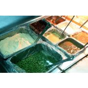 M and Q Packaging Corp ScrubSaver Sixth Steam Table Pan Liner - Deep -- 250 per case.