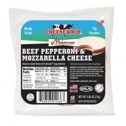 Cheesewich Halal Beef Pepperoni and Mozzarella Cheese, 2.5 Ounce -- 64 per case.