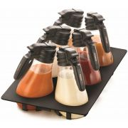 Tablecraft NSF Black Tray Dressing Set, 48 Ounce -- 1 set