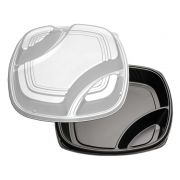 D and W Fine Pack Deep 3 Compartment Polystyrene Form Tray, 16 inch -- 50 per case.