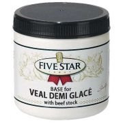 Five Star Demi Glace Veal Base, 18 Ounce -- 6 per case.