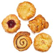 Gourmand Pastries Assorted Mini Danish Pastry, 1.5 Ounce -- 120 per case.