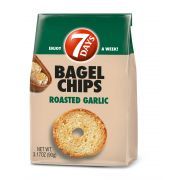 7 Days Roasted Garlic Bagel Chips, 3.17 Ounce -- 12 per case.