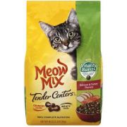 Meow Mix Tender Centers Salmon and Turkey with Vitality Bursts Cat Food, 3 Pound -- 4 per case.