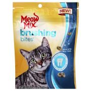 Meow Mix Brushing Bites Cat Dental Treats with Real Tuna, 2.25 Ounce Bag -- 5 per case