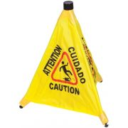 Winco Caution Sign Pop Up Safety Cone -- 1 each