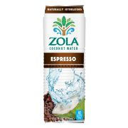 Zola Fruits of the World Coconut Water with Espresso, 17.5 Fluid Ounce -- 12 per case.